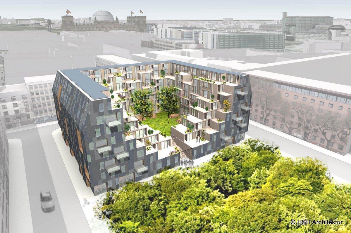 mittelstrasse city apartment aerial