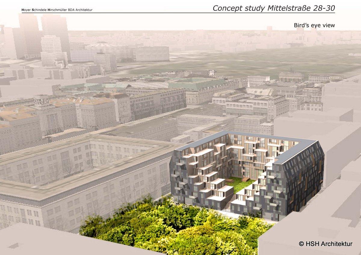 mittelstrasse city apartment bird view