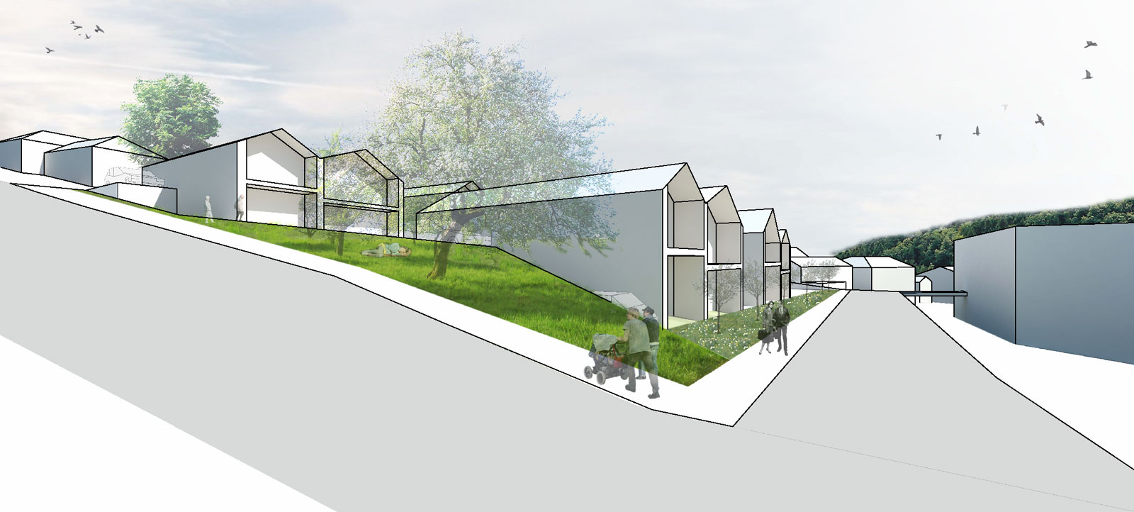 simulation of the disabled housing development